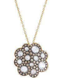 Roberto Coin - 18k Scalloped Pendant Necklace W/ Mixed Diamonds - Lyst
