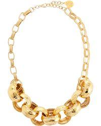 Devon Leigh - Thick Link Chain Necklace - Lyst
