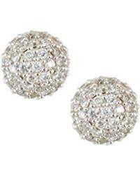 Ippolita - 18k Gold Stardust 6mm Round Stud Earrings With Diamonds - Lyst