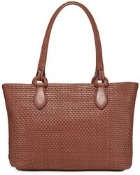 Cole Haan Bethany Large Woven Leather Tote Bag - Multicolour