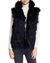 Adrienne Landau Fox Fur Vest - Blue