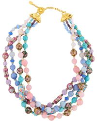 Jose & Maria Barrera - Mixed Pastel Twist Necklace - Lyst