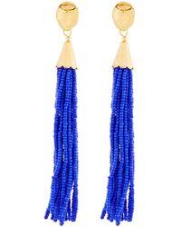 Panacea - Long Seed Bead Tassel Earrings - Lyst