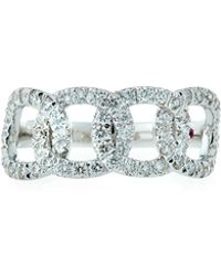 Roberto Coin - 18k White Gold Diamond Cable Ring - Lyst