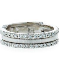 Marco Bicego - Goa 18k White Gold Three-row Double Pave Diamond Ring - Lyst
