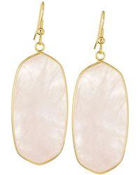 Panacea - Elongated Iridescent Stone Drop Earrings - Lyst