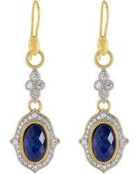 Jude Frances - 18k Moroccan Doublet Oval Drop Earrings - Lyst