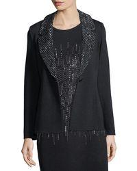 St. John | Sparkle Lapel Knit Blazer | Lyst