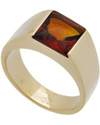 Cartier - Estate Tank De 18k Citrine Ring - Lyst
