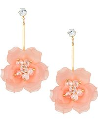 Romeo & Juliet Couture Linear Flower Earrings EbACumUiRu