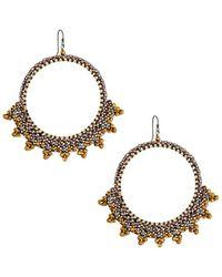 Nakamol - Spiked Hoop Drop Earrings - Lyst