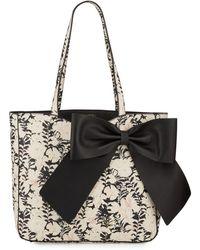 Karl Lagerfeld Canelle Pvc Polka Dot Bow Tote Bag - Black