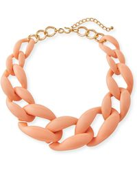 Kenneth Jay Lane - Graduated Resin Link Necklace - Lyst