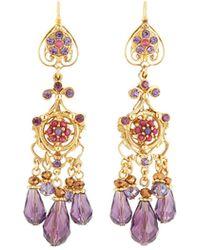 Jose & Maria Barrera - Filigree Crystal Teardrop Earrings - Lyst