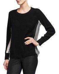 Donna Karan - Combo Shirttail Sweater - Lyst