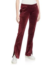 Pam & Gela Contrast Stripe Track Pants - Red