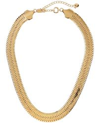 Lydell NYC - Flat Chain Necklace - Lyst