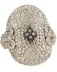 Armenta - New World Large Pave Diamond Oval Ring - Lyst