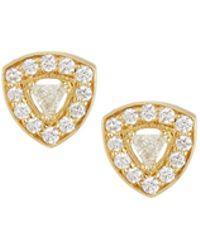 Penny Preville | 18k Trillion Diamond Stud Earrings | Lyst