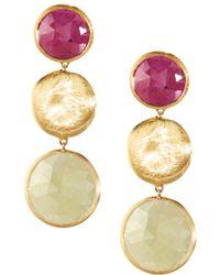 Marco Bicego | Jaipur 18k Multicolored Sapphire Drop Earrings | Lyst