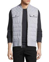 9f0bf26eef77c Lyst - Michael Kors Reversible Vest in Black for Men