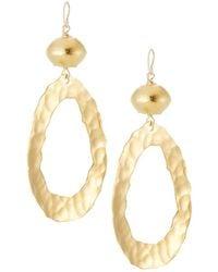 Devon Leigh Hammered Filigree Leaf Drop Earrings rpSDXta4