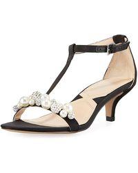 c251f366591 Adrienne Vittadini - Kalina Satin Pearly Embellished Sandal - Lyst