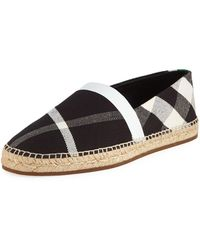 Burberry - Men's Check Slip-on Sneakers - Lyst