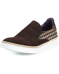 Robert Graham - Hanover Check Suede Slip-on Sneaker - Lyst