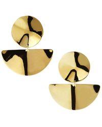Ippolita 18k Classico Medium Wavy Disc Earrings - Metallic