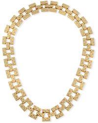 Lulu Frost Amp Crystal Necklace - Metallic