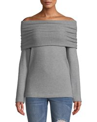 Three Dots - Corey Off-the-shoulder Sweater - Lyst