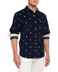Tommy Bahama - Men's Palms Away Embroidered Long-sleeve Sports Shirt - Lyst