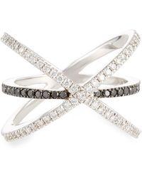 Roberto Coin - 18k Crisscross Two-tone Diamond Ring Size 6.5 - Lyst