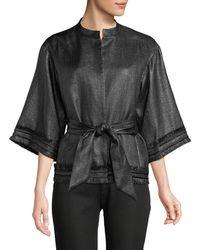 Natori - Kimono Fringe Topper Jacket - Lyst