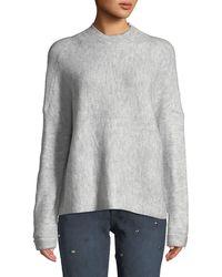 Dex - Drop-shoulder Ribbed Pullover Sweater - Lyst