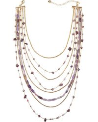 Lydell NYC - Mixed Chain & Bead Layered Necklace - Lyst