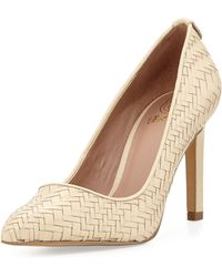 Elliott Lucca - Catalina Woven Leather Pump - Lyst