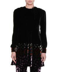 b5b0b496c5a6 Lyst - Givenchy Long-sleeve Cady Handkerchief Top in Black