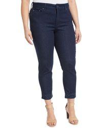 NYDJ - Sheri Embellished-ankle Skinny Jeans - Lyst