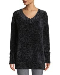 Dex - Chenille V-neck Long Sleeve Sweater Tunic - Lyst