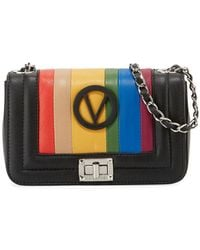 Valentino By Mario Valentino - Beatriz Rainbow Quilted Leather Shoulder Bag - Lyst