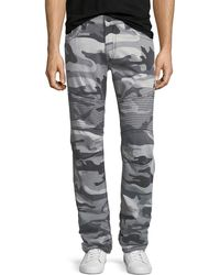 True Religion - Slim Camouflage Moto-style Pants - Lyst