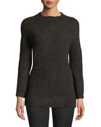 Leon Max Fully Fashioned Mohair Pullover Sweater - Brown