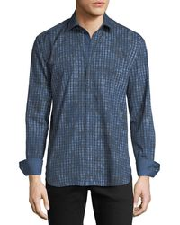 Bugatchi - Men's Shaped-fit Gingham Woven Sport Shirt - Lyst