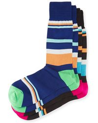Punto - Two-pair Oversized Striped Socks - Lyst