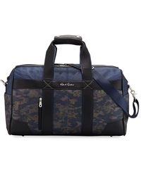 Robert Graham Men's Anson Camo-print Weekender Bag - Blue