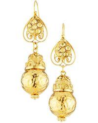 Jose & Maria Barrera - Hammered Dangle Earrings - Lyst