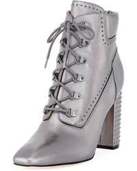 Sigerson Morrison | Valora Leather Studded Bootie | Lyst