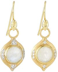 Jude Frances - Delicate Moroccan Moonstone Earring Charms With Diamonds - Lyst